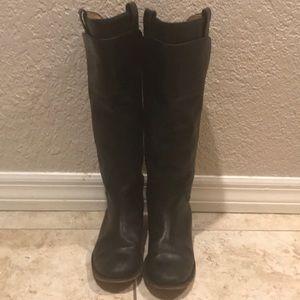Frye knee high black boots